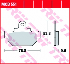 Bremsbelag MCB551