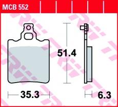 Bremsbelag MCB552
