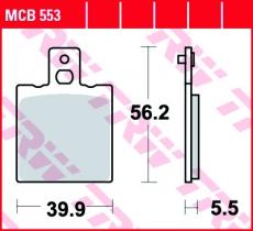 Bremsbelag MCB553