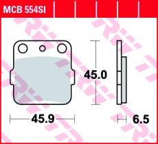 Bremsbelag MCB554SI