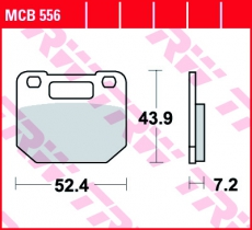 Bremsbelag MCB556