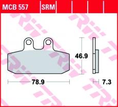 Bremsbelag MCB557