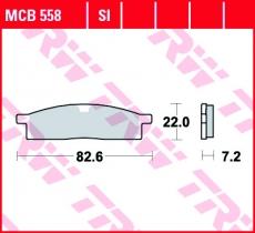 Bremsbelag MCB558