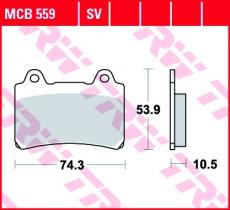 Bremsbelag MCB559