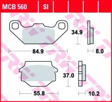 Bremsbelag MCB560