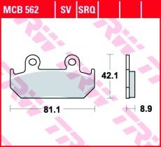 Bremsbelag MCB562