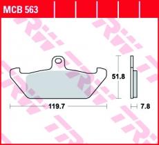 Bremsbelag MCB563