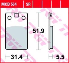 Bremsbelag MCB564