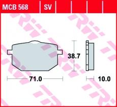 Bremsbelag MCB568