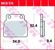 Bremsbelag MCB570