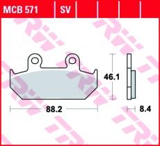 Bremsbelag MCB571