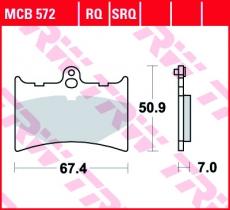 Bremsbelag MCB572