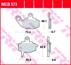 Bremsbelag MCB573