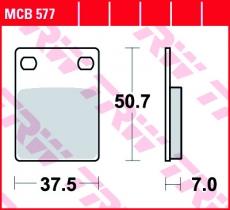 Bremsbelag MCB577