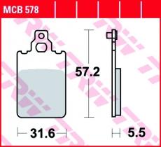 Bremsbelag MCB578
