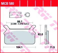 Bremsbelag MCB580