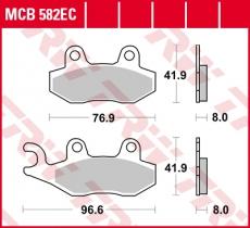 Bremsbelag MCB582EC