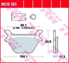 Bremsbelag MCB583