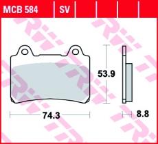 Bremsbelag MCB584