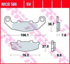 Bremsbelag MCB586