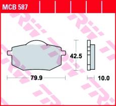 Bremsbelag MCB587
