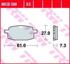 Bremsbelag MCB590