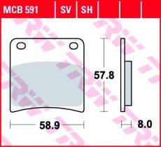 Bremsbelag MCB591