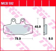 Bremsbelag MCB592