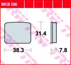 Bremsbelag MCB596