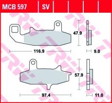Bremsbelag MCB597