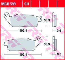 Bremsbelag MCB599