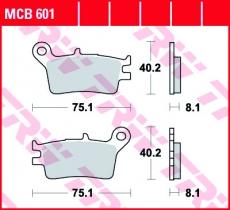 Bremsbelag MCB601