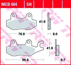 Bremsbelag MCB604