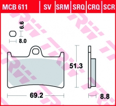 Bremsbelag MCB611