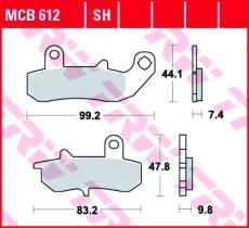 Bremsbelag MCB612