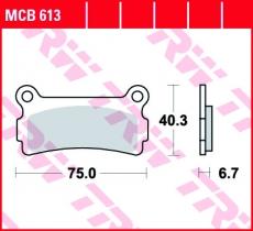 Bremsbelag MCB613