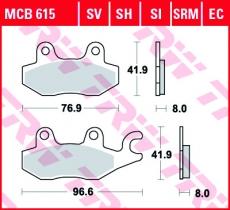 Bremsbelag MCB615