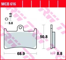 Bremsbelag MCB616