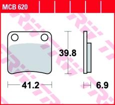 Bremsbelag MCB620
