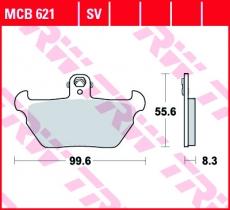 Bremsbelag MCB621