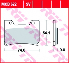 Bremsbelag MCB622