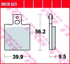 Bremsbelag MCB623