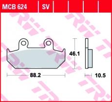 Bremsbelag MCB624