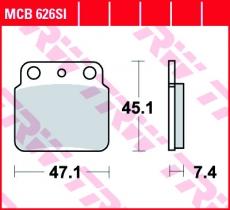 Bremsbelag MCB626SI