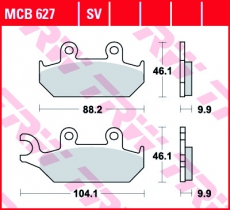 Bremsbelag MCB627