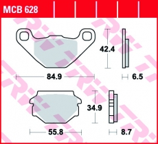 Bremsbelag MCB628