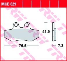 Bremsbelag MCB629