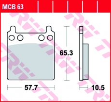 Bremsbelag MCB63