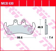 Bremsbelag MCB630