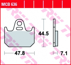 Bremsbelag MCB636